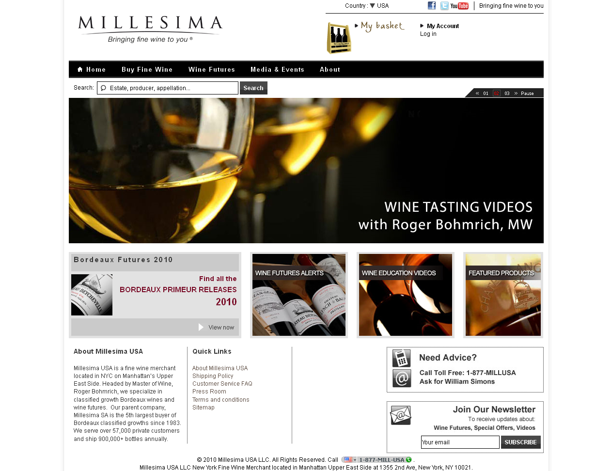 New Millesima USA Website Launched